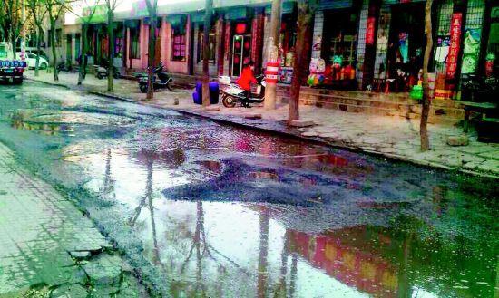 污水溢满街道