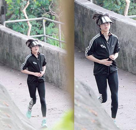 郑秀文为演唱会跑步练气