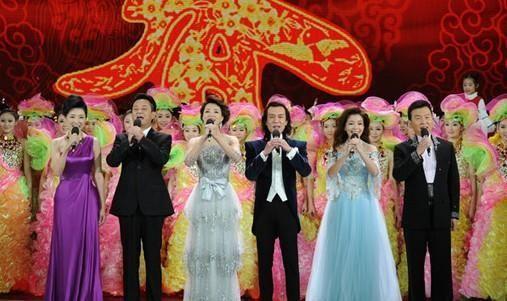 央视春节联欢晚会现场(资料图)