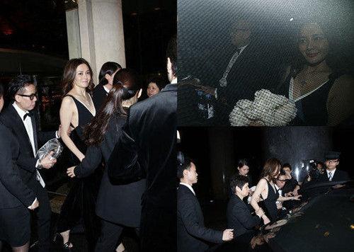 关之琳与男友共同出席刘嘉玲寿宴